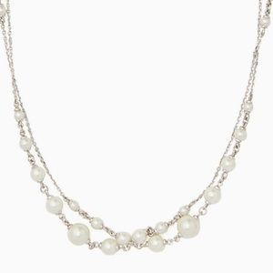 New Kate Spade modern pearls wrap necklace